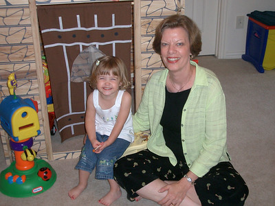 Auntie B visits in June 2005
