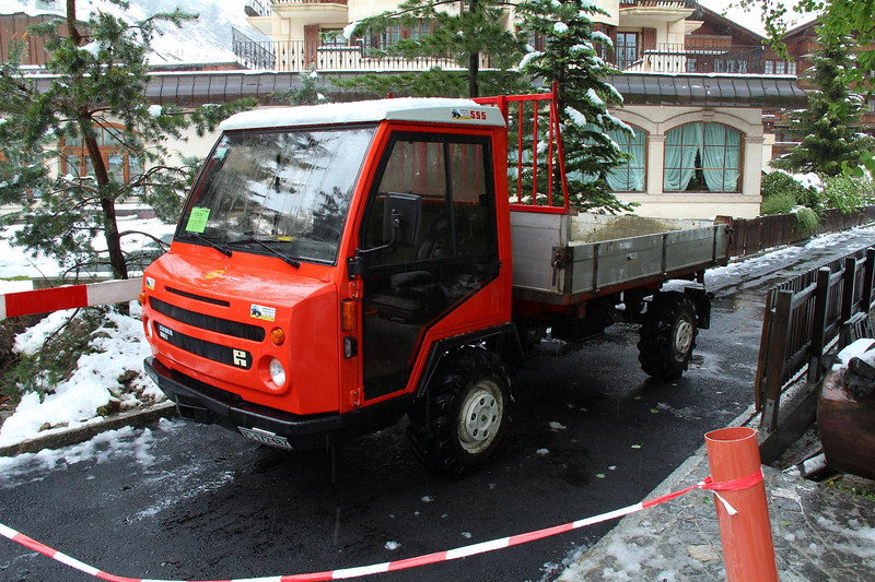 In the village of Zermatt, traffic is restricted to small electric trucks and cabs which gives the town a very quiet and pleasant atmosphere.