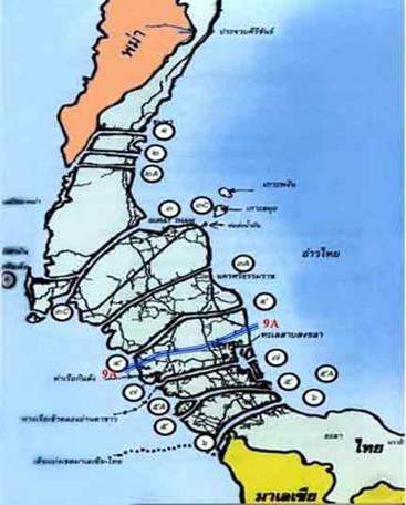 12 Routes of the Kra Isthmus Project