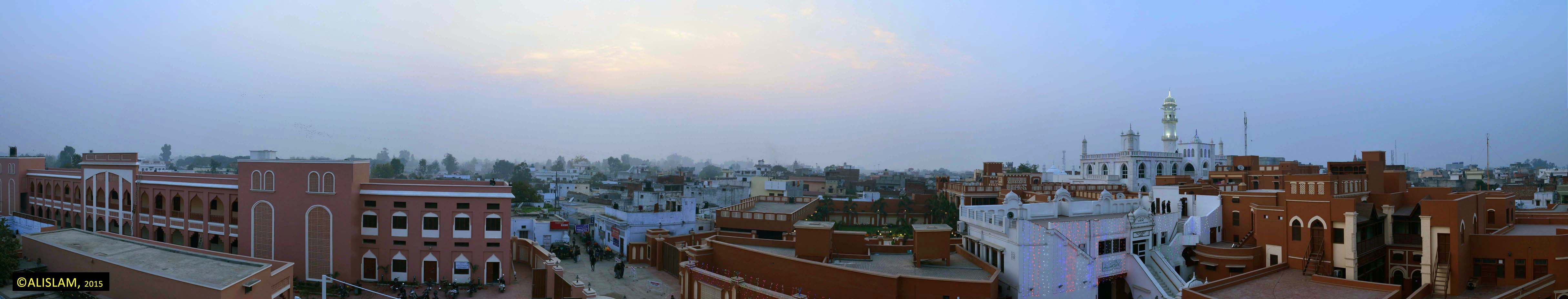 Panoramic view of Qadian