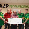Members of the Newry Premiership Slagging Group on Facebook present a cheque for £2820 to Collie Bell. The members agreed to donate £30 each for the season which will go to the charity. Anyone looking to join for the forthcoming season please log into their page. R1626010