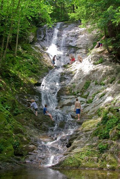 Kinds climbing up Tannery Falls   (Jul 07, 2007, 11:49am)