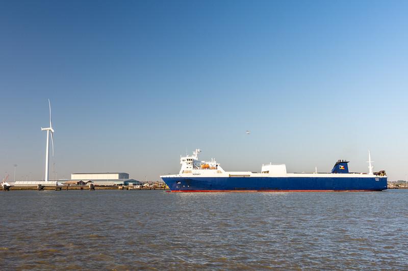 Cargo ship at Tilbury