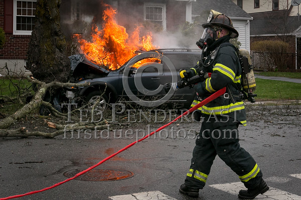 Belmont MA - MVA with Fire