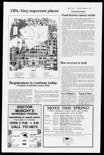 Daily Trojan, Vol. 90, No. 4, February 09, 1981