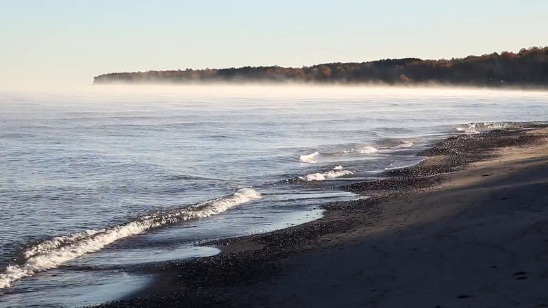 Moving Fog - Union Bay ( Porcupine Mountains State Park)