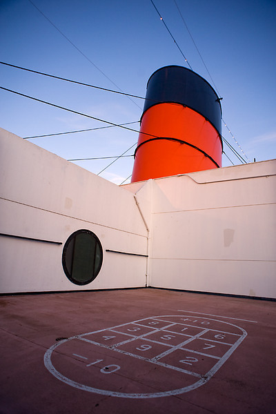 Queen Mary, Long Beach, CA  Shuffle board and ocean liners go together!