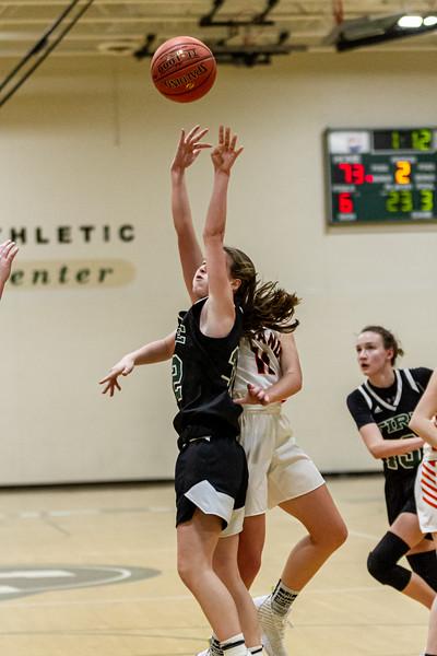 Holy Family Varsity Girls Basketball vs. Delano, 1/10/20: Berkley Neubauer '24 (32)