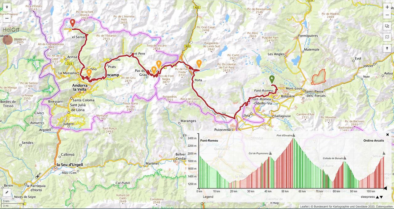 Etapa 1 ruta para ACs y campers pirineo