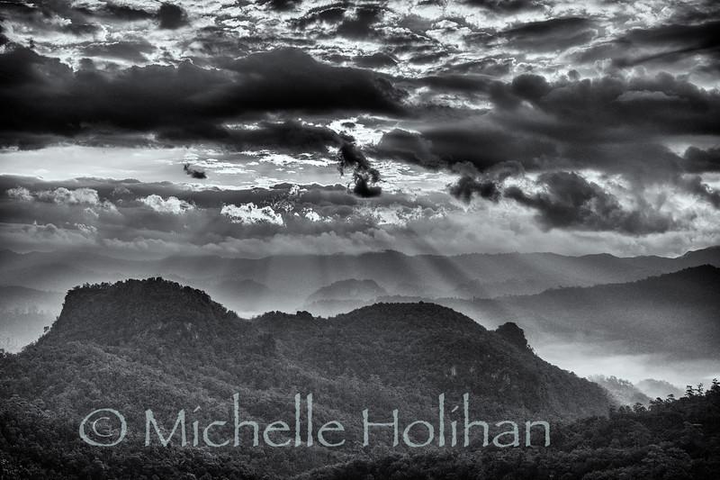 Sunrise near Tham Lod, Thailand
