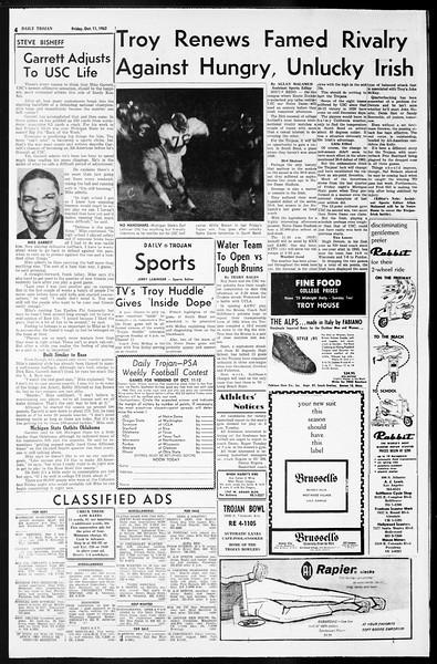 Daily Trojan, Vol. 55, No. 15, October 11, 1963