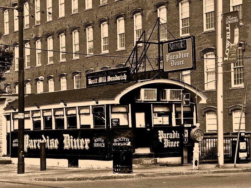 Arthur's Paradise Diner - sepia - Lowell, MA