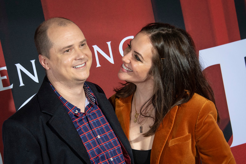 "LOS ANGELES, CALIFORNIA - OCTOBER 29: Mike Flanagan and Kate Siegel attend the premiere of Warner Bros Pictures' ""Doctor Sleep"" at Westwood Regency Theater on Tuesday October 29, 2019 in Los Angeles, California. (Photo by Tom Sorensen/Moovieboy Pictures,)"