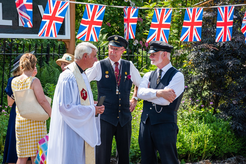 Arley Station Staff & the 1940s Vicar - 1940s weekend 2019