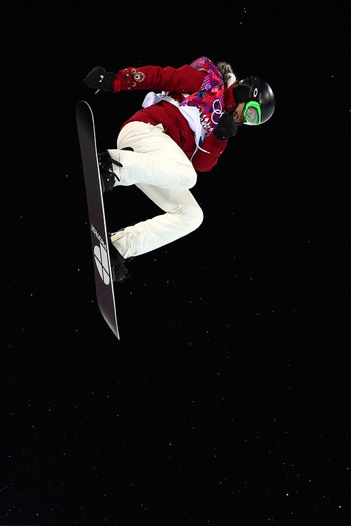 . Ursina Haller of Switzerland competes in the Snowboard Women\'s Halfpipe Finals on day five of the Sochi 2014 Winter Olympics at Rosa Khutor Extreme Park on February 12, 2014 in Sochi, Russia.  (Photo by Cameron Spencer/Getty Images)