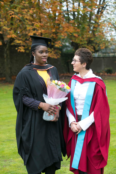 31/10/2018. Waterford Institute of Technology (WIT) Conferring Ceremonies 2018. Pictured is Jovith Fwamba from The Congo and Kilkenny. Picture: Patrick Browne