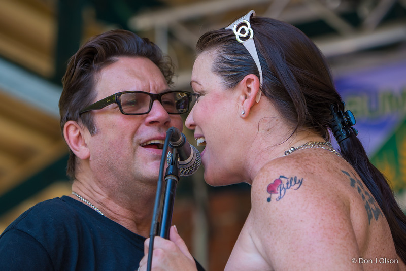 Billy Larson and Lisa-Lisa Wenger and her Mean Mean Men-Lowertown Blues Festival 2015-Mears Park-St. Paul MN