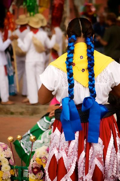 Preparing for a Guelaguetza Street Parade - Oaxaca de Juarez, Oaxaca, Mexico