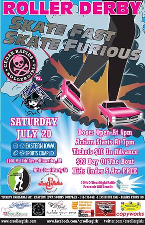 CRRG vs Mankato Area Derby Girls (07-20-13)