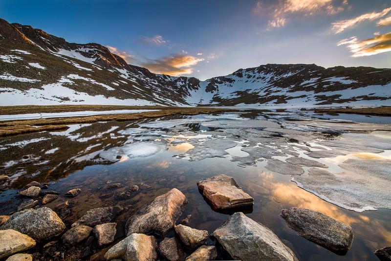 Evening Colors on Summit Lake