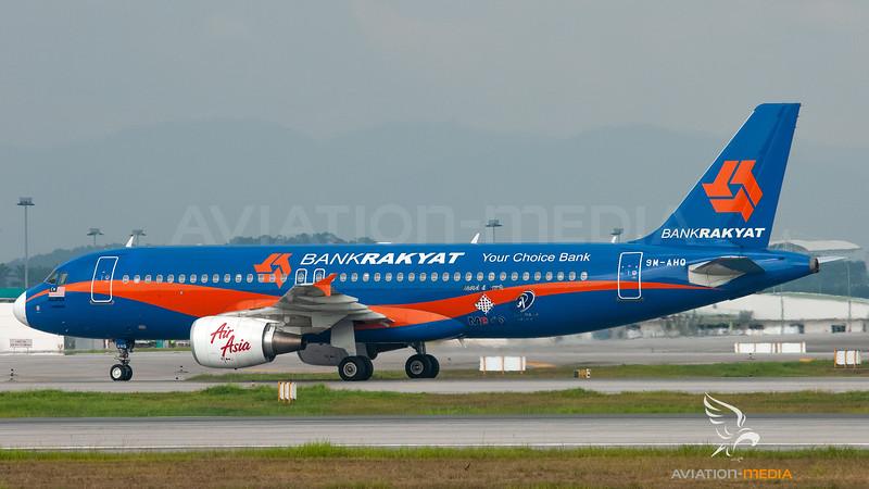 Air Asia Airbus A320 9M-AHQ (Bank Rakyat livery)