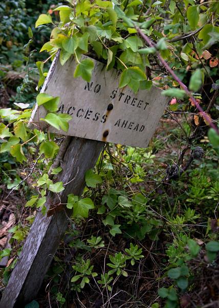 no street access ahead