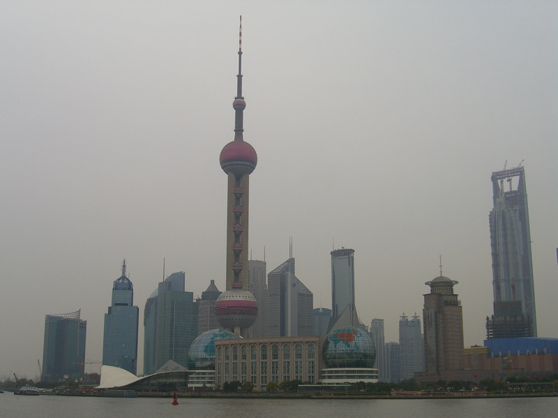 Pudong Skyline in Winter - Shanghai, China