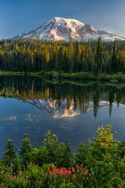 Reflecting on Mt. Rainier