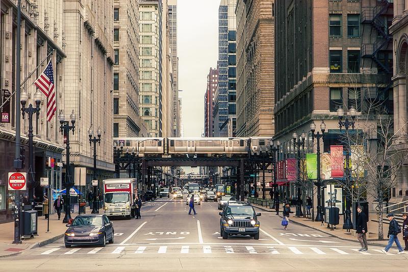 Downtown Chicago Street-trains scene-.jpg