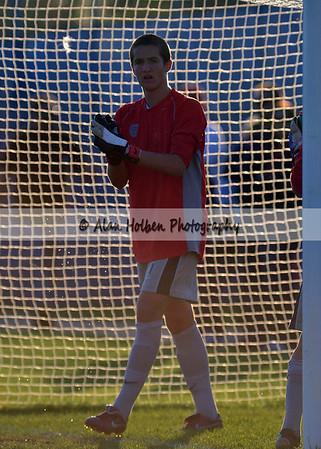Boys varsity soccer - Haslett at Mason - Oct 4