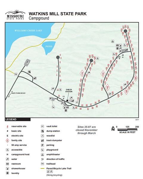 Watkins Woolen Mill State Park & Historic Site (Campground Map)