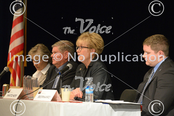 League of Women Voters Central Kane County host a political forum at Geneva High School in Geneva, Ill 10-22-12
