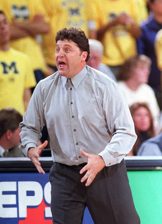 . File art from the Oakland University vs Michigan game 11-16-01.  Oakland University head basketball coach, Greg Kampe.