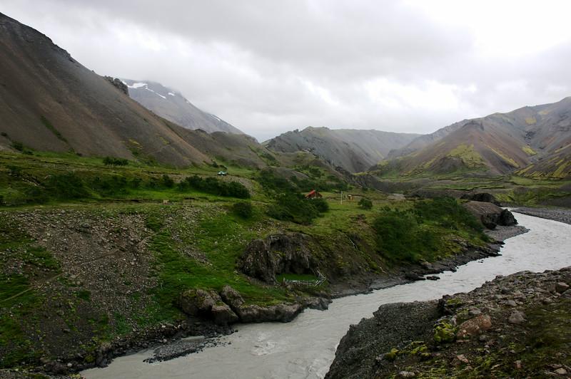 Horft að Múlaskála