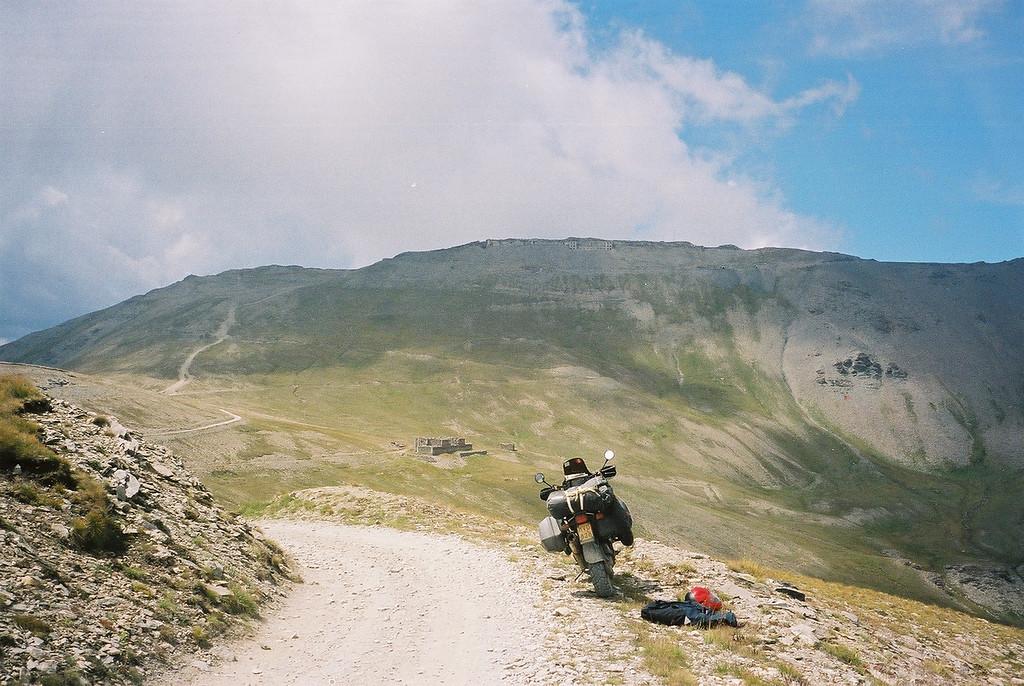M'n eerste rit naar de top. Augustus 2002, met bagage wegens onwetend...