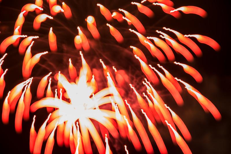 Boston Harbor Firework at Januar 1st 2016