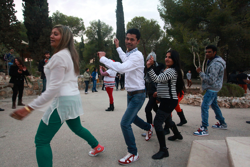 Gujaratis in Bethlehem, Dancing on Christmas