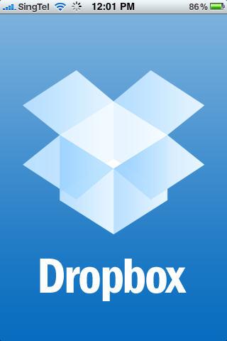 DropBox in iPhone