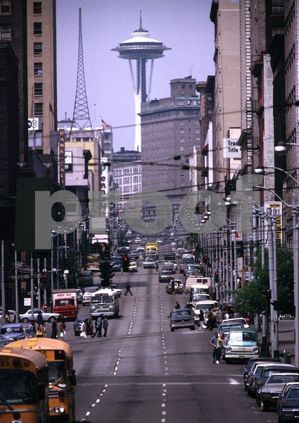 Seattle, Jackson and 2nd St., view north, May 1973.