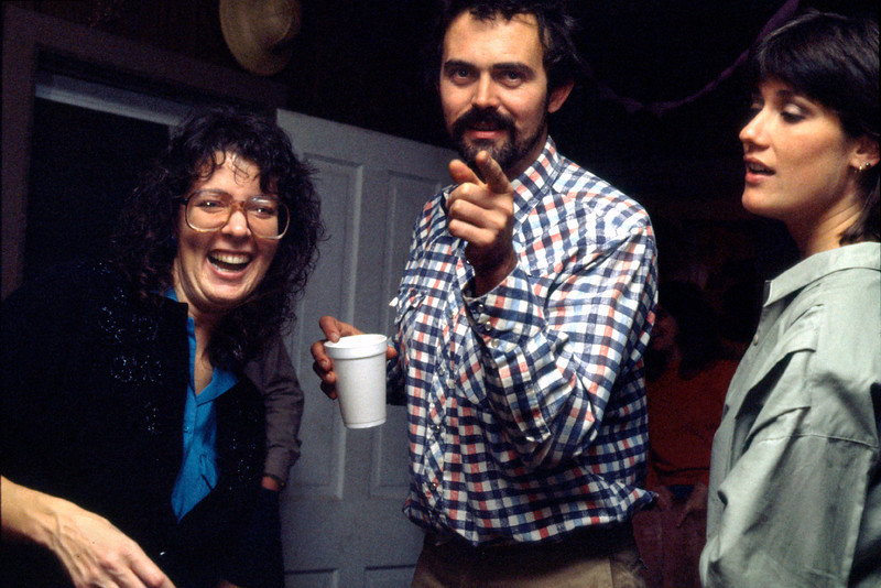 Rita, Gerald and Susan at a party. Early 1990s