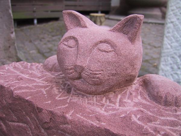 Katze Sandstein