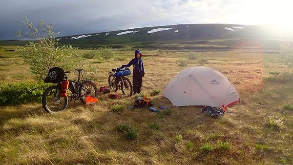 Camping on the tundra, Alaska, 2018