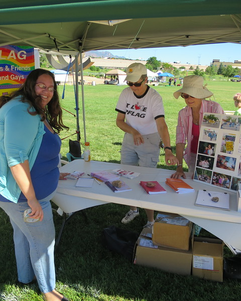 Sat - 9:45, all set up now for the official 10:00 am opening of the 25th annual PrideFest in Colorado Springs - http://coloradospringspridefest.com