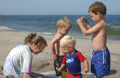Family at Sandy Hook '09