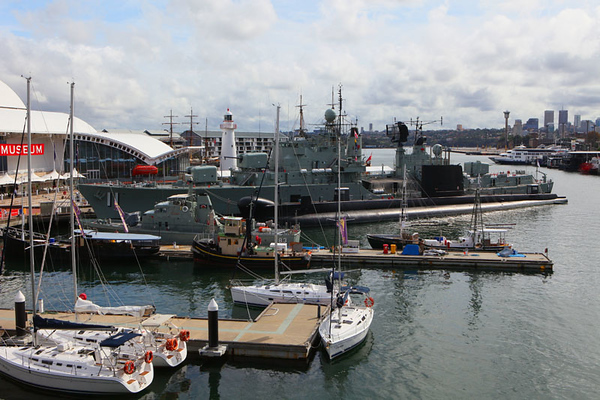 Military ship by the harbour in Sydney.jpg