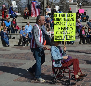 """Defend Our Constitution"" Rally & March - Denver  2/18/17"