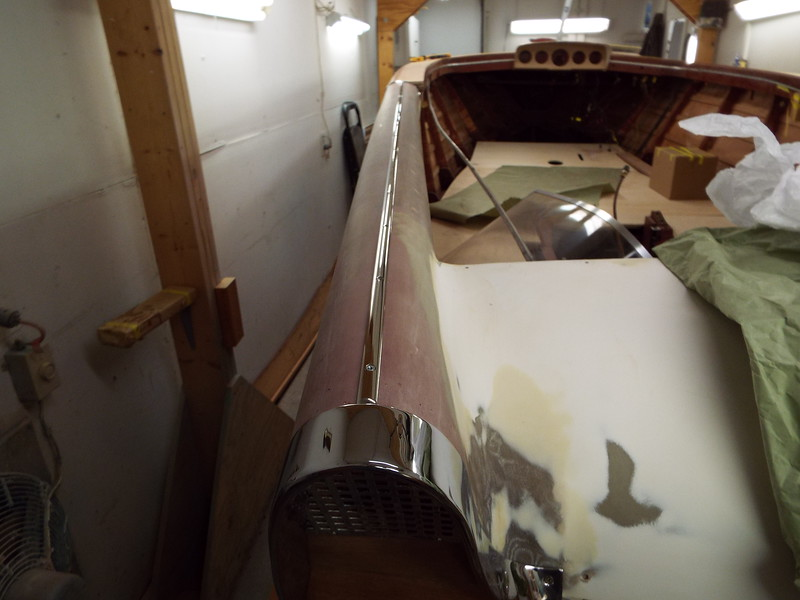 New stainless steel trim fit to the top of the port fin.