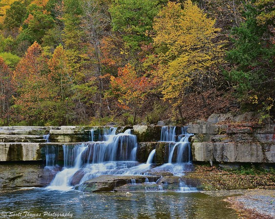 Lower Taughannock Falls in Taughannock Falls State Park near Ithaca, New York.