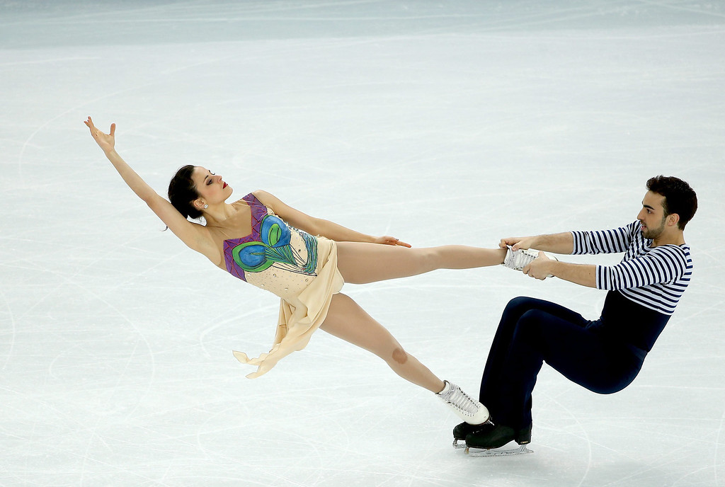 . Sara Hurtado and Adria Diaz of Spain perform in the Figure Skating Ice Dance Free Dance at Iceberg Skating Palace during the Sochi 2014 Olympic Games, Sochi, Russia, 17 February 2014.  EPA/TATYANA ZENKOVICH