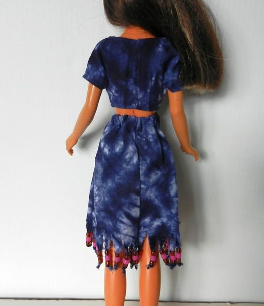 TT Blue Tie Dye Midriff Top & Skirt w Bead Fringe back.jpg